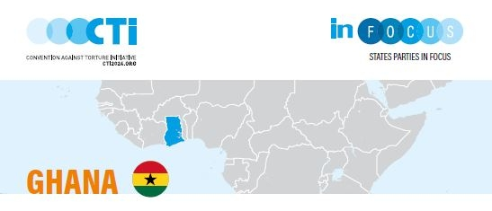 Ghana marked on the geo map