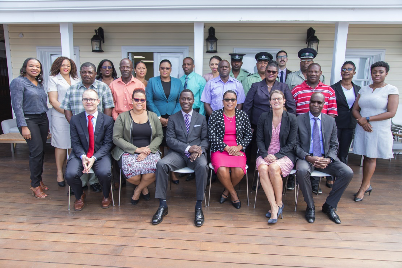 Participants in CTI's diplomatic and technical visit to Dominica in April 2019
