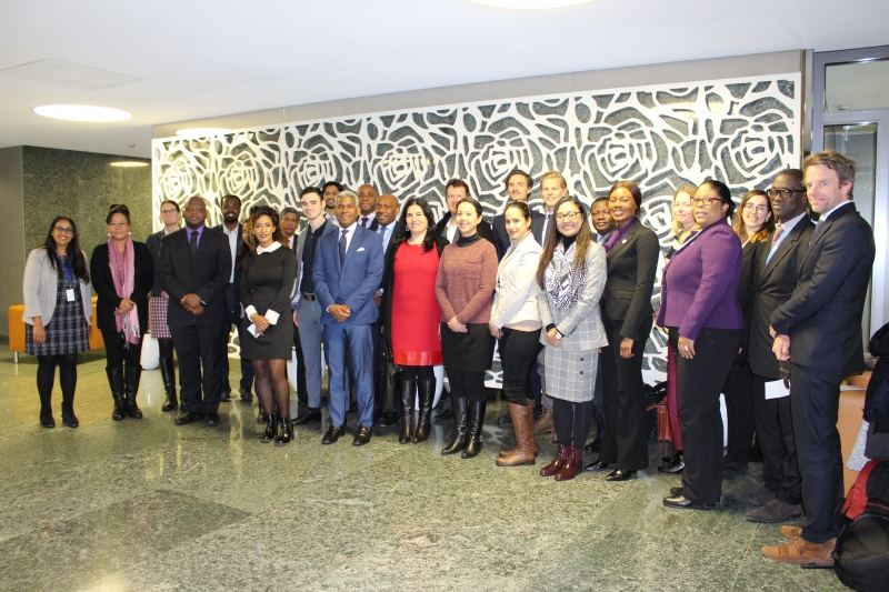 Participants of the CTI discussion at the Commonwealth Small States Office in Geneva.
