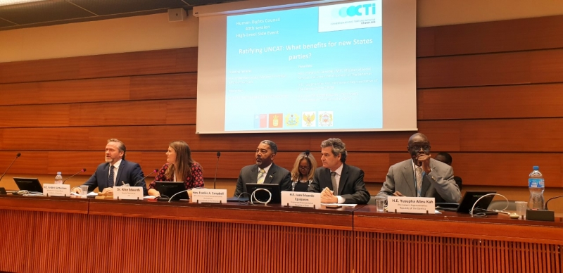 CTI hosted a side event on the benefits of ratifying the UNCAT at the Palais des Nations