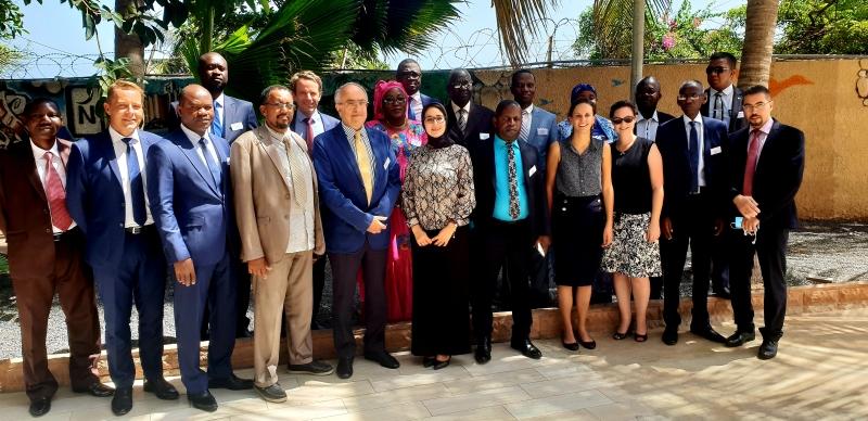 Participants à l'atelier de la CTI sur la rédaction de lois contre la torture. Dakar