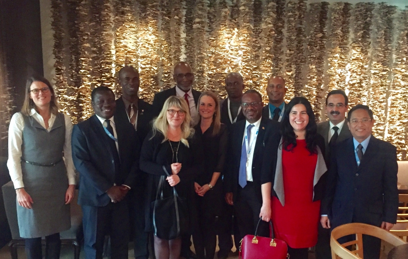 The Grenada delegation together with members of the CTI core group and CTI Secretariat