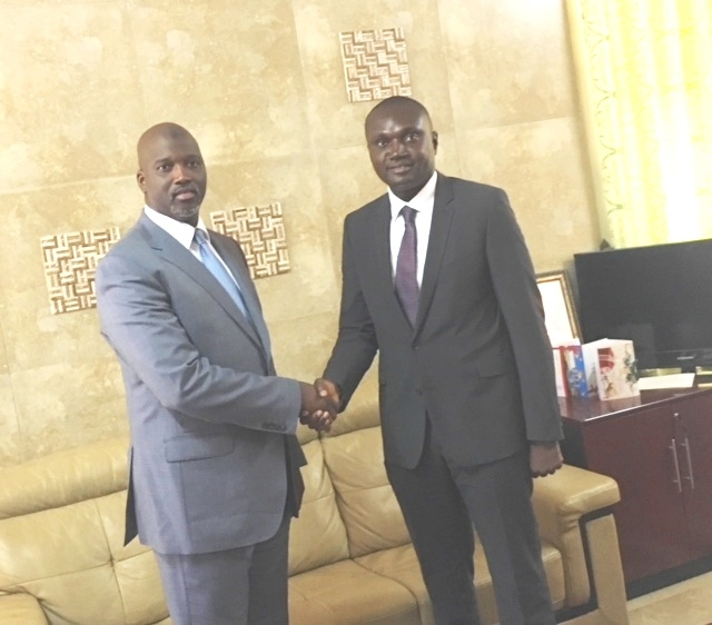 Minister of Justice and Attorney-General of The Gambia, H.E. Mr. Abubacarr Tambadou and Hon. Deputy Minister of Ghana Charles Owiredu, head of CTI's delegation