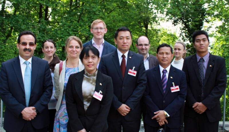 Myanmar delegation pictured with CTI and APT representatives