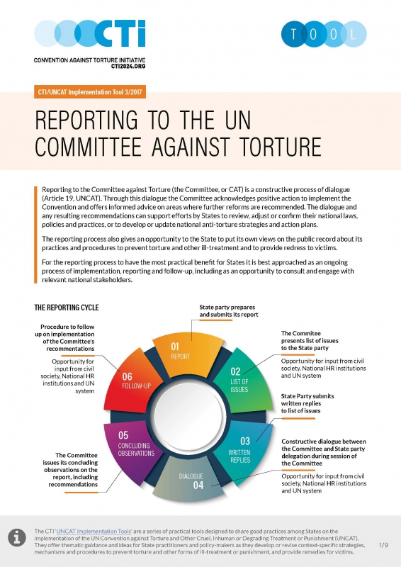 Reporting to the committee against torture