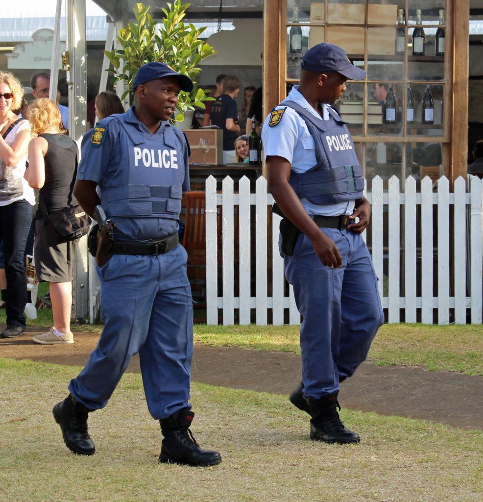 SAPS police officers_Stellenbosch Wine Expo 2014_HelenOnline (Wikimedia)